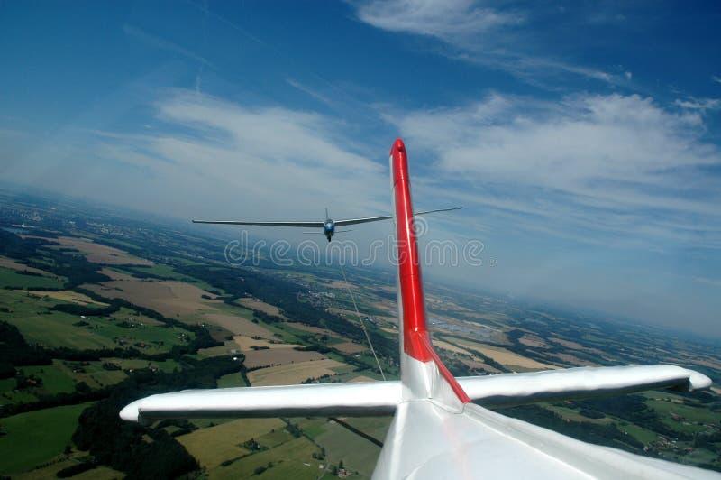 aerotow πτήση στοκ φωτογραφίες