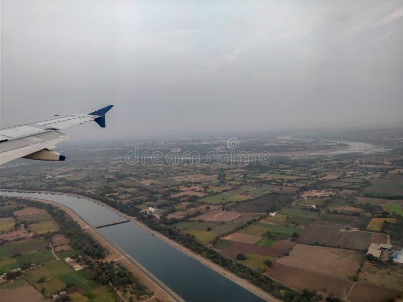 Aerrial-Ansicht von Ahmedabad stockbilder
