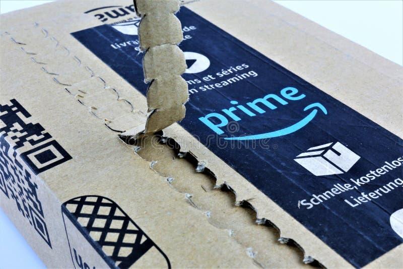 01/14/2018 - Aerzen/Германия - изображение концепции логотипа главного Амазонки стоковая фотография rf