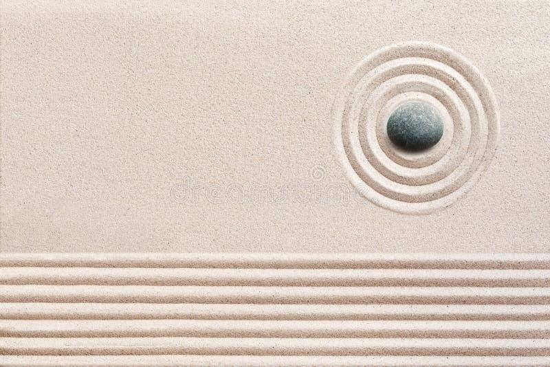 Aesthetic patterns in a Japanese Zen Garden stock photos