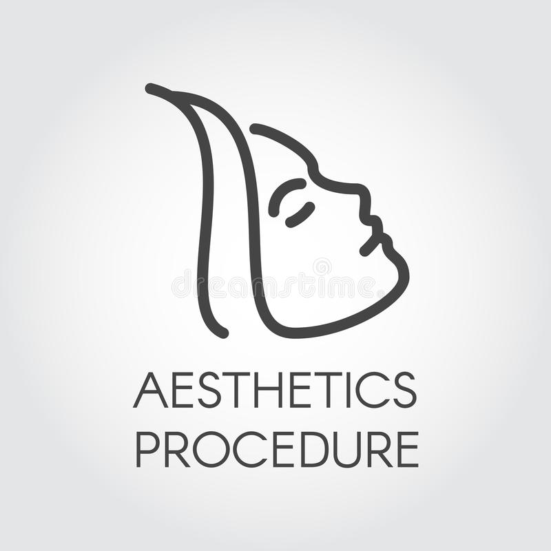 Aesthetic Procedure Line Icon Abstract Portrait Of Profile Woman Cosmetology Skincare Healthcare Treatment Concept Stock Vector Illustration Of Icon Design 113621718