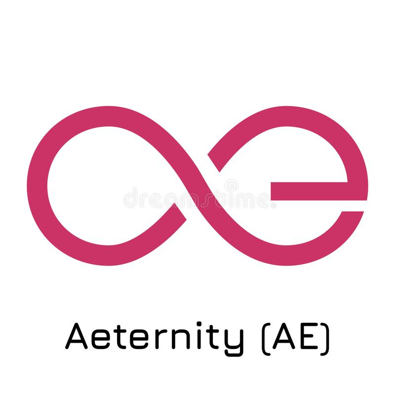 Aeternity AE. Vector illustration crypto coin i royalty free illustration