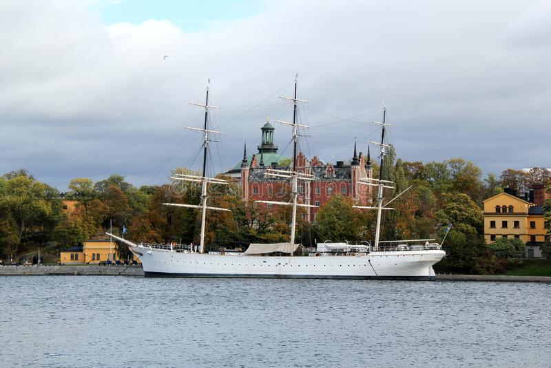 Af Chapman Sailboat en Estocolmo, Suecia foto de archivo libre de regalías