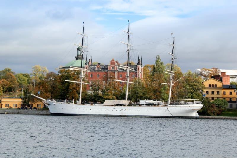 Af Chapman Sailboat en Estocolmo, Suecia fotos de archivo