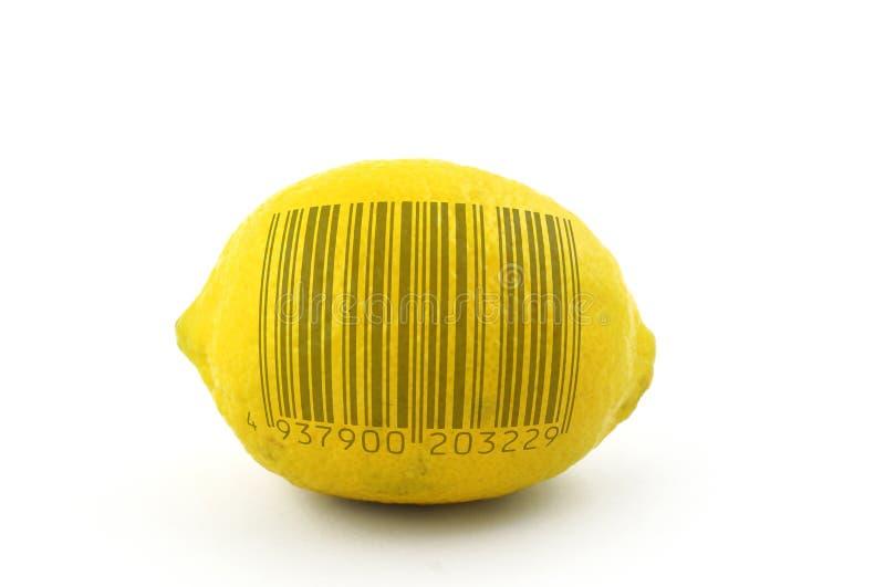 Af te tasten citroen stock afbeelding