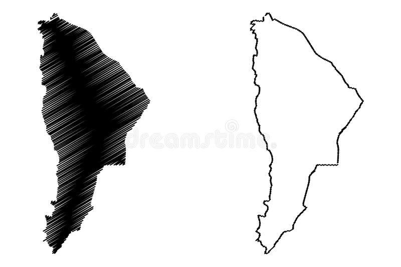 Afar вектор карты региона иллюстрация вектора