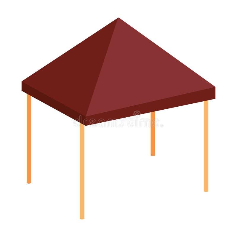 Afbaardend tent geïsoleerd pictogram stock illustratie