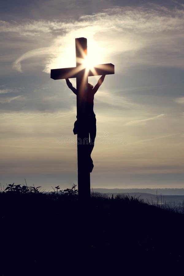 Afbeelding van Jesus op het Kruis royalty-vrije stock foto's