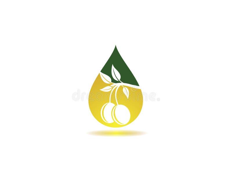 Afbeelding vectorpictogram van het logo van olijfolie royalty-vrije stock foto's