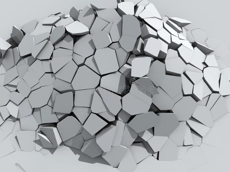 Afbrokkelende concrete muur vector illustratie