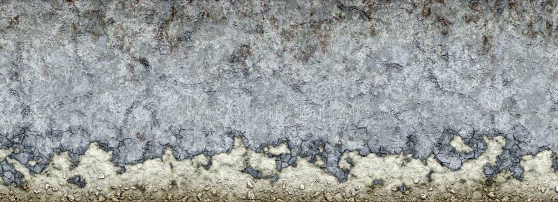 Afbrokkelende concrete muur royalty-vrije illustratie