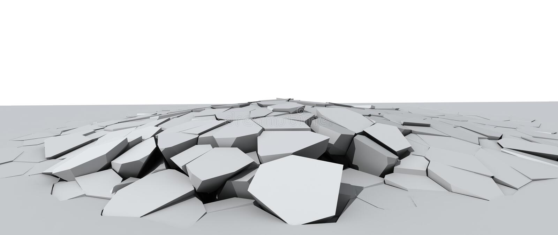 Afbrokkelende concrete vloer vector illustratie