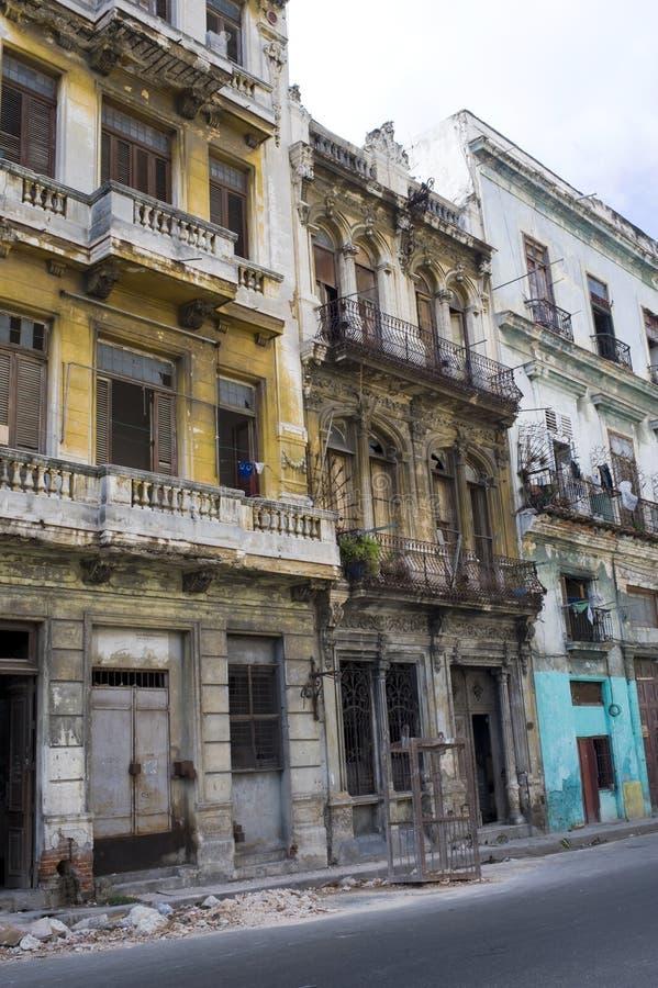 Afbrokkelende Huizen - Havana, Cuba royalty-vrije stock afbeeldingen