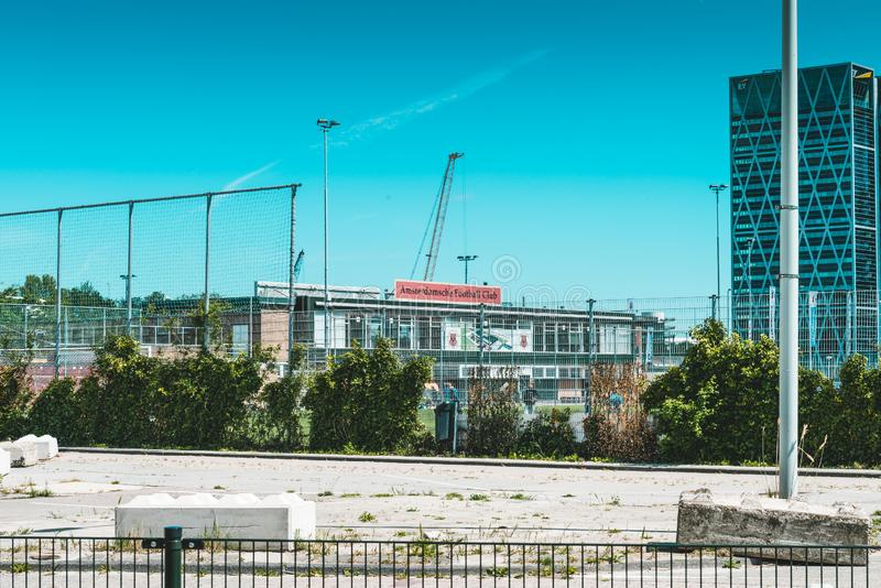 AFC Amsterdamse futbolu klub, Zuidas w Amsterdam zdjęcia royalty free