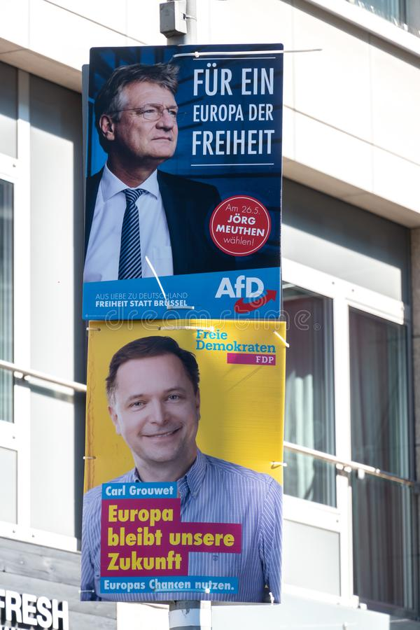 AFD and FDP German political parties royalty free stock images