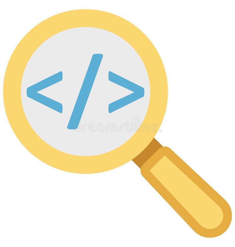 afd., onderzoeksmarkering, Geïsoleerde Vectorpictogrammen zoek die gemakkelijk kunnen worden gewijzigd of uitgeven vector illustratie