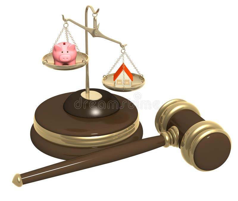 Afdeling van bezit bij scheiding royalty-vrije illustratie