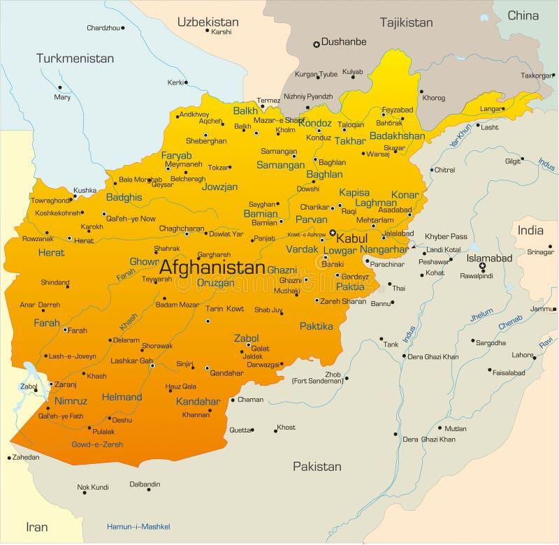 Afeganistão ilustração stock