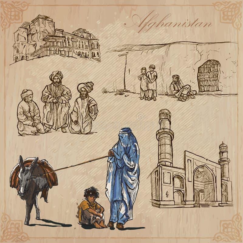 afeganistão Bloco tirado mão do vetor nenhum ilustração royalty free