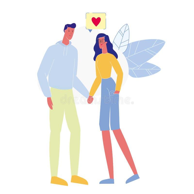 Afeição, ilustração do vetor da confissão do amor ilustração do vetor
