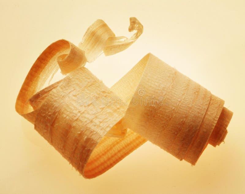 Afeitado de madera foto de archivo libre de regalías
