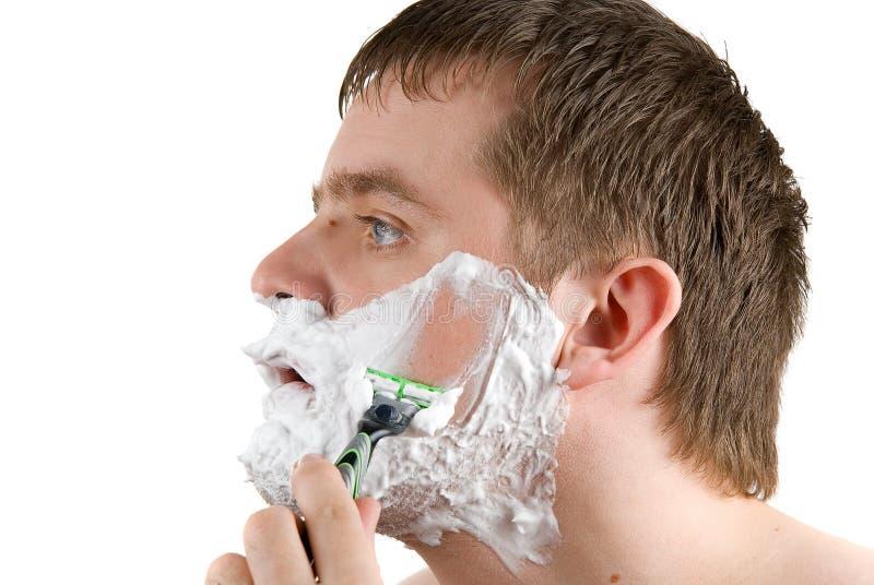 Afeitar al hombre foto de archivo libre de regalías