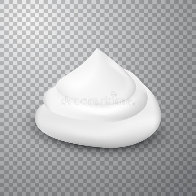 Afeitar el descenso de la espuma, aislado en fondo simple libre illustration