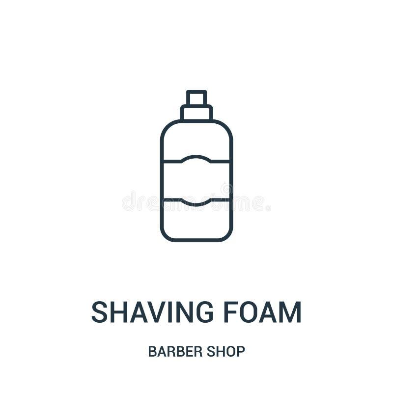afeitar vector del icono de la espuma de la colección de la peluquería de caballeros Línea fina que afeita el ejemplo del vector  stock de ilustración