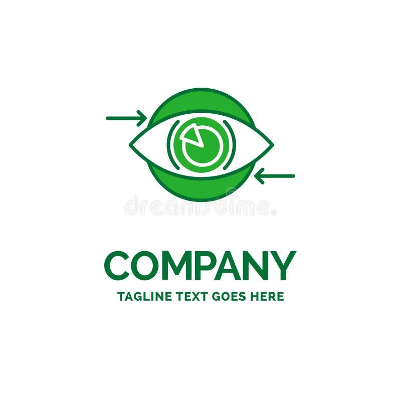 Affär öga, marknadsföring, vision, för affärslogo för plan plan templa stock illustrationer