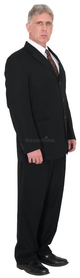 Affär affärsman Standing, representant Isolated royaltyfri foto