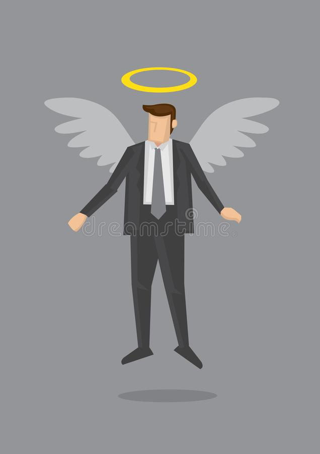 Affär Angel Metaphor Vector Illustration stock illustrationer