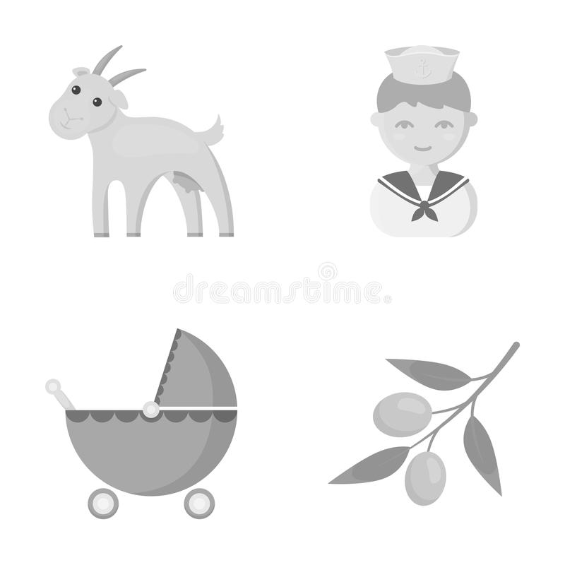 Affär, ekologi, yrke och annan rengöringsduksymbol i monokrom stil oliv oliv, hobbysymboler i uppsättningsamling royaltyfri illustrationer