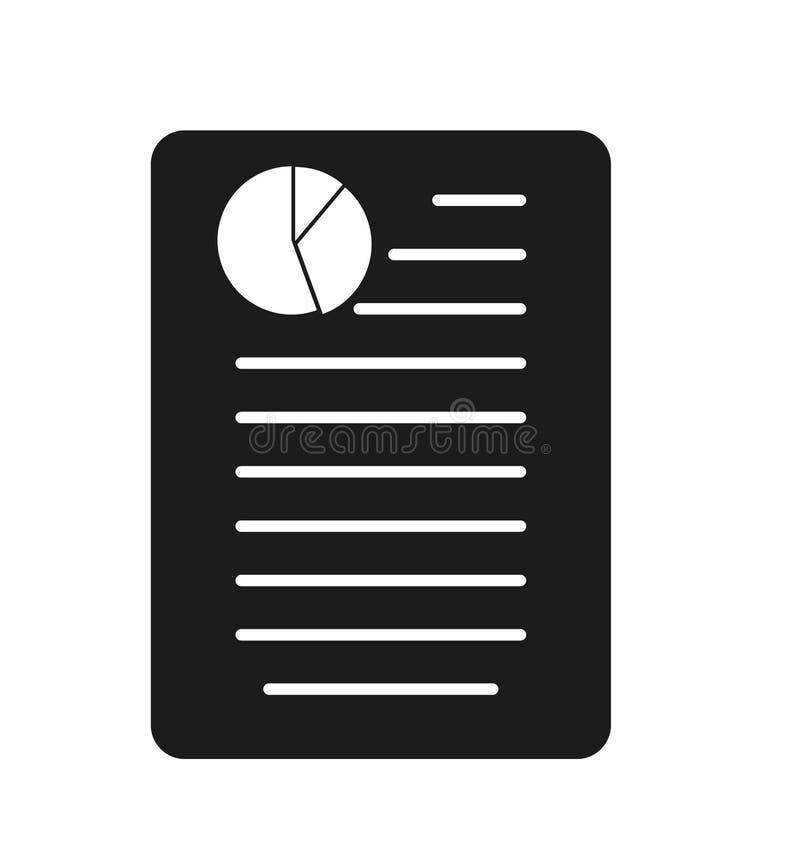 Affär eller finansiell rapportsymbol vektor illustrationer