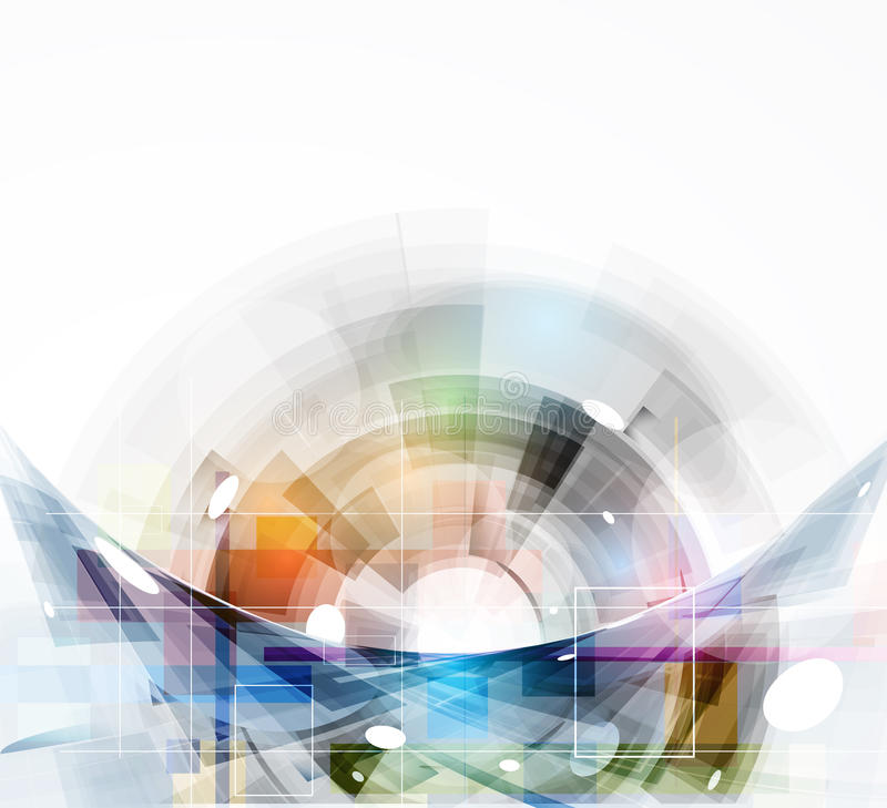Affär för datateknik för futuristisk internet för vetenskap hög royaltyfri illustrationer
