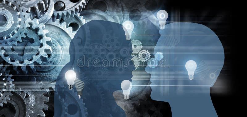 Affär för innovation för tankar för kommunikationsidékuggar royaltyfria foton