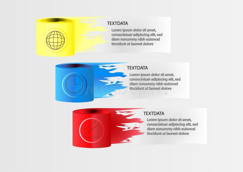 Affär för orientering för mall för workflow för Infographic designillustration vektor illustrationer