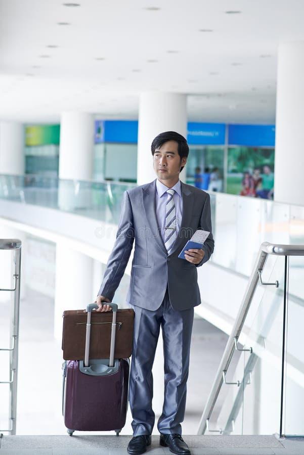 Affär-grupp passagerare arkivfoton