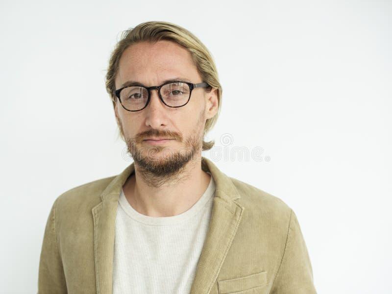 Affär Guy Male Portrait Concept royaltyfria foton