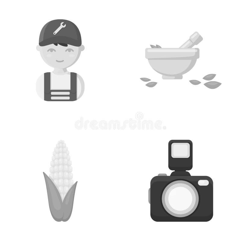 Affär, handel, yrke och annan rengöringsduksymbol i monokrom stil bilder information, apparatursymboler i uppsättning vektor illustrationer