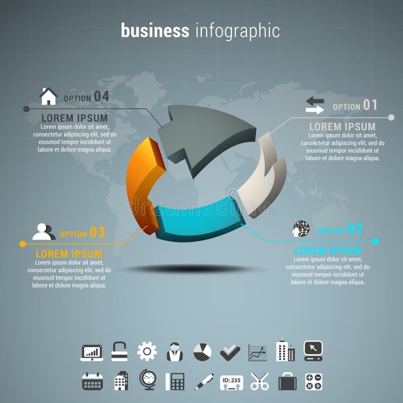 Affär Infographic royaltyfri illustrationer