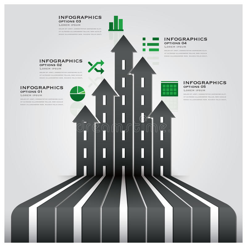 Affär Infographic för väg- och gatatrafiktecken royaltyfri illustrationer