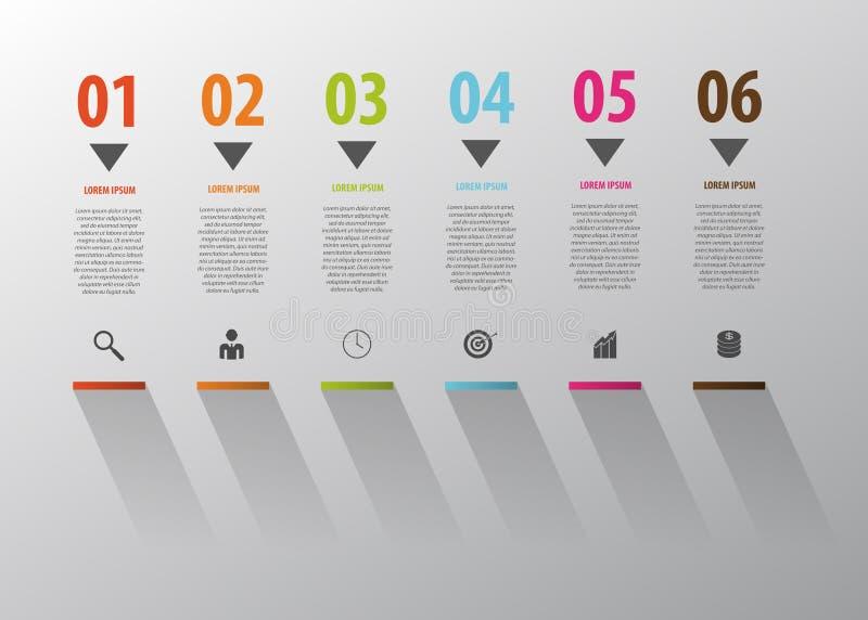 Affär Infographic Trappamoment till framgång vektor stock illustrationer
