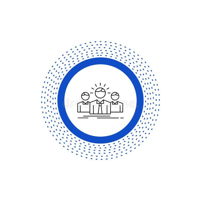 Affär karriär, anställd, entreprenör, ledare Line Icon Vektor isolerad illustration stock illustrationer
