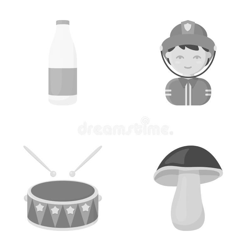 Affär, konsert, yrke och annan rengöringsduksymbol i monokrom stil , skog, mat, sökande, symboler i uppsättningsamling royaltyfri illustrationer