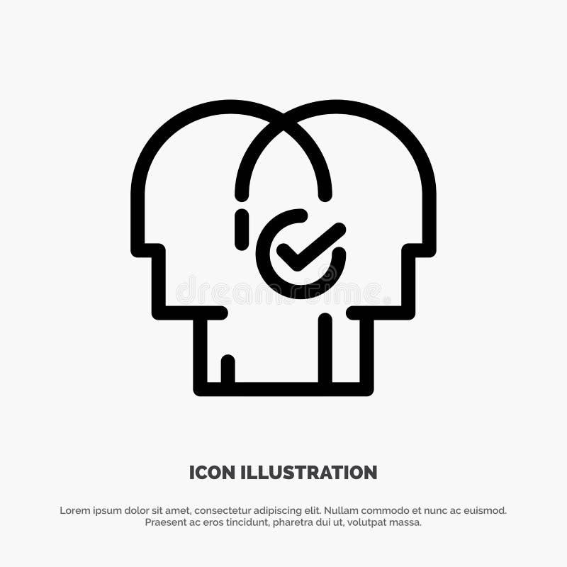 Affär mänskligt som är modern, resurser, vallinje symbolsvektor stock illustrationer