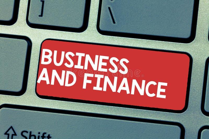 Affär och finans för handskrifttexthandstil Menande ledning för begrepp av tillgångpengar och fond av ett företag arkivbild