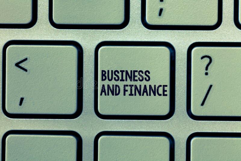 Affär och finans för textteckenvisning Begreppsmässig fotoledning av tillgångpengar och fond av ett företag royaltyfri fotografi
