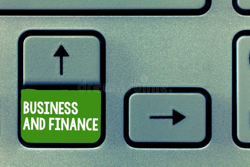 Affär och finans för textteckenvisning Begreppsmässig fotoledning av tillgångpengar och fond av ett företag arkivbild