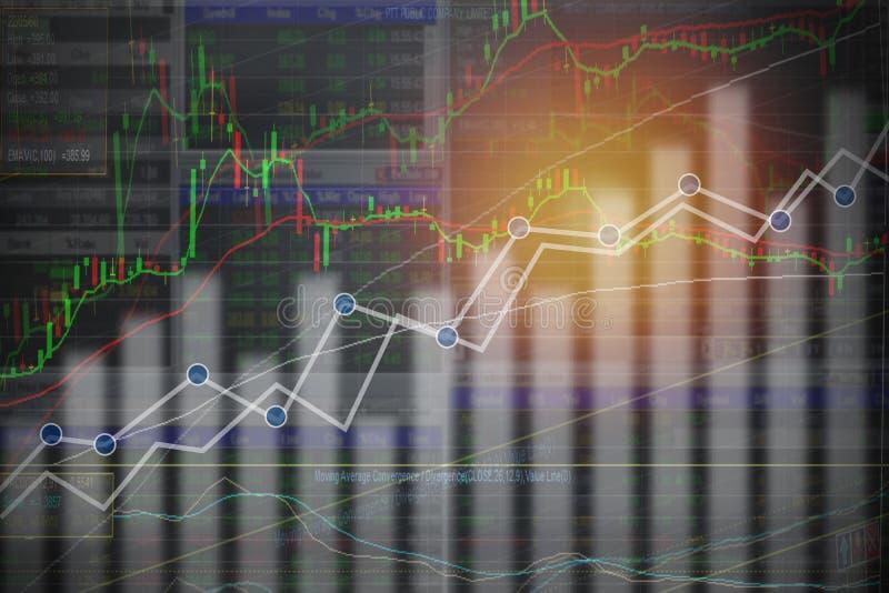 Affär och finansiell bakgrund: Aktiemarknad- eller forexhandel vektor illustrationer