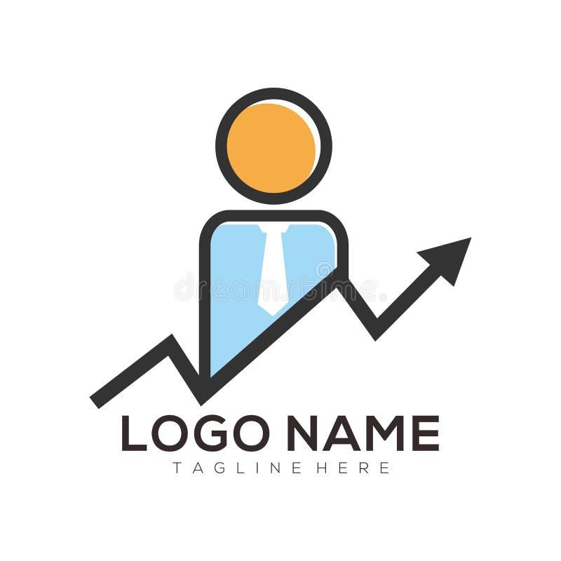 Affär och konsulterande logo- och symbolsdesign stock illustrationer